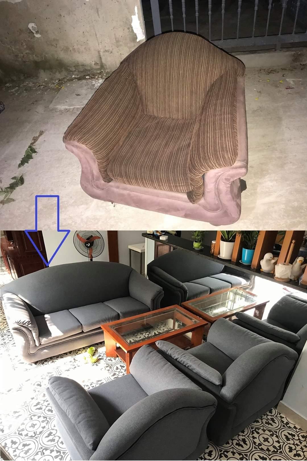 Bọc Lại ghế sofa cho Anh Hưng tại Đường Cao Lỗ, Quận 10