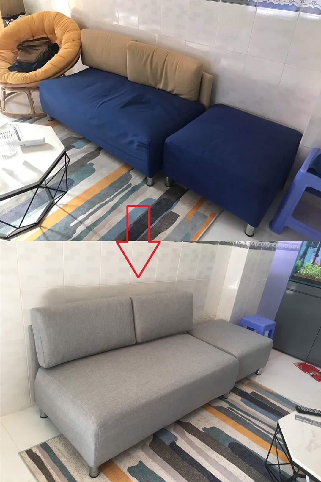 Bọc lại ghế sofa cho Chị Trinh tại Đường Lý Thái Tổ, Quận 3