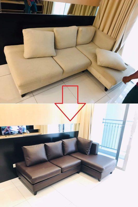 Bọc lại ghế sofa cho Anh Tuấn tại Chung cư Khánh Hội 2, Đường Bến Vân Đồn, Quận 4