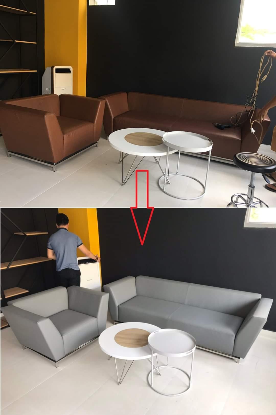 Bọc lại bộ sofa cho Anh Trung tại Đường Him Lam, Quận 7