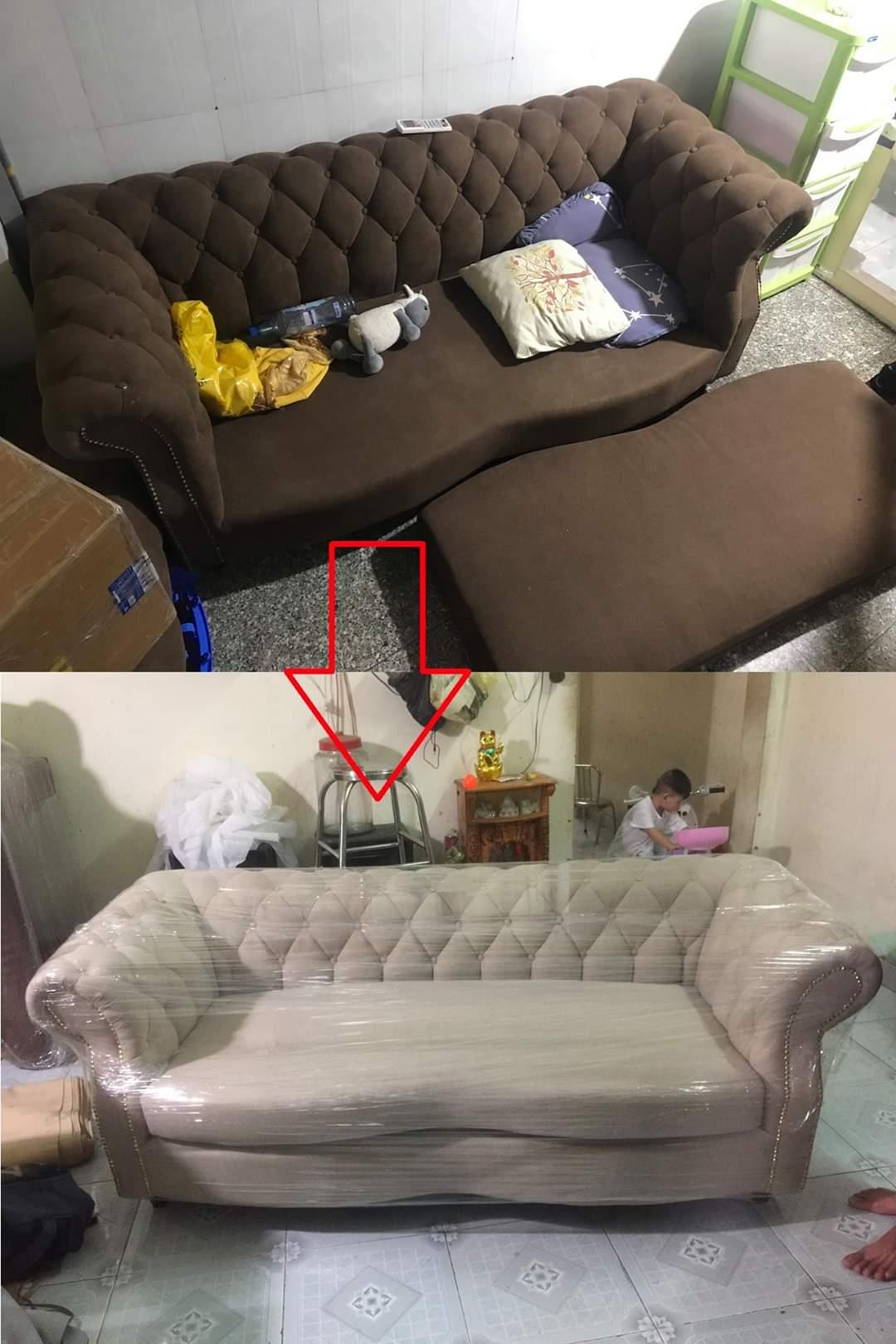 Bọc ghế sofa cho Anh Minh tại chung cư GreanHills, Quận Bình Tân